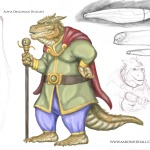 This is a concept illustration of a delegate from Alpha Draconis.
