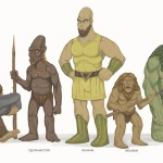 An assortment of giants from folklore.